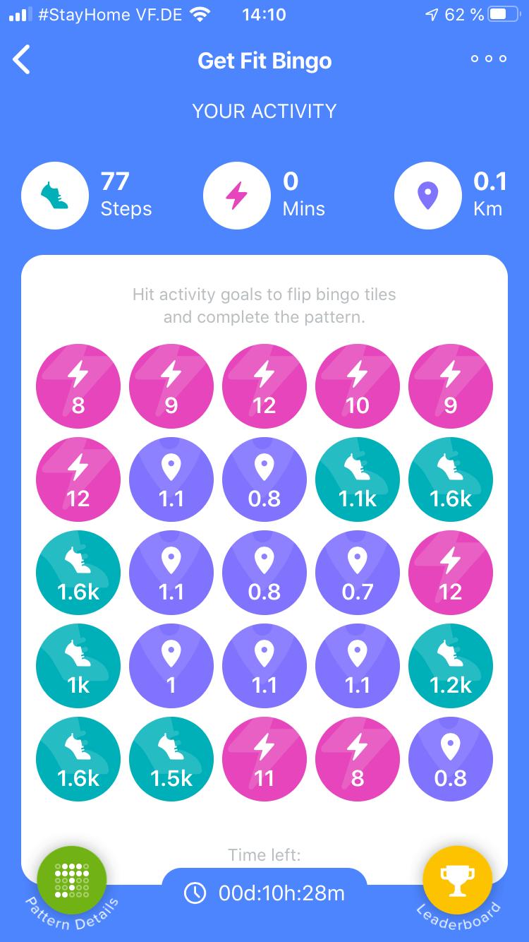 Fitbit Bingo in Deutschland